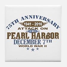 Pearl Harbor Anniversary Tile Coaster