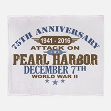Pearl Harbor Anniversary Throw Blanket