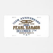 Pearl Harbor Anniversary Aluminum License Plate