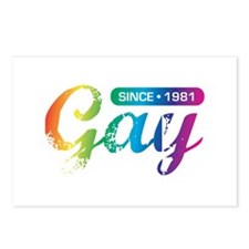 Gay Since 1981 Postcards (Package of 8)