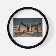 Family of meerkats Wall Clock