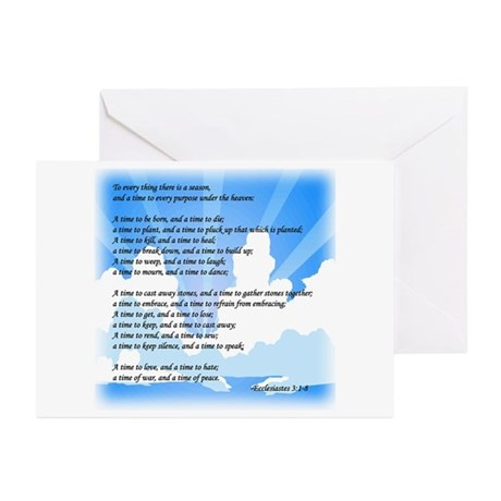 """""""To Every Thing ..."""" Greeting Cards (Pk of 10)"""