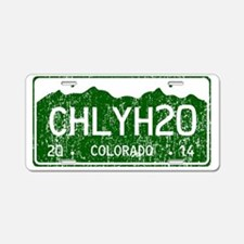 Chilly Water Colorado Licen Aluminum License Plate