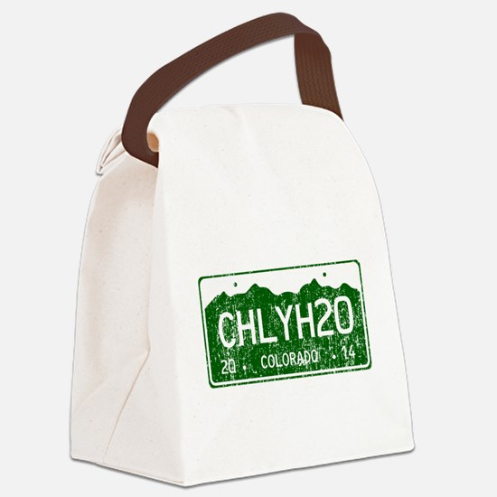 Chilly Water Colorado License Pla Canvas Lunch Bag