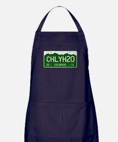 Chilly Water Colorado License Plate D Apron (dark)