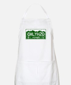 Chilly Water Colorado License Plate DISTRESS Apron