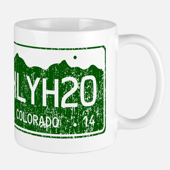 Chilly Water Colorado License Plate DIS Mug