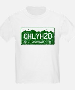 Chilly Water Colorado License P T-Shirt