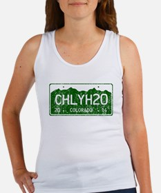 Chilly Water Colorado License Pla Women's Tank Top