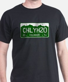 Chilly Water Colorado License Plate D T-Shirt