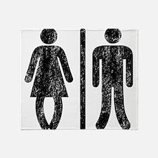 Bo Legged Woman DISTRESSED Throw Blanket