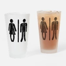 Bo Legged Woman DISTRESSED Drinking Glass