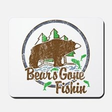 Bears Gone Fishin' DISTRESSED Mousepad