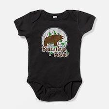 Bears Gone Fishin' DISTRESSED Baby Bodysuit