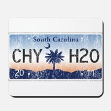 Chilly Water SC License Plate DISTRESSED Mousepad