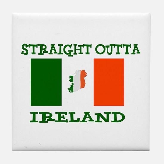 straight outta ireland Tile Coaster