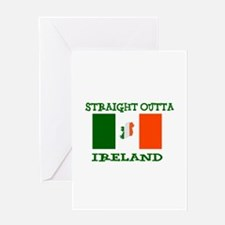 straight outta ireland Greeting Cards