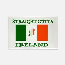 straight outta ireland Magnets