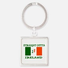 straight outta ireland Keychains