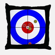 Cute Curling house Throw Pillow