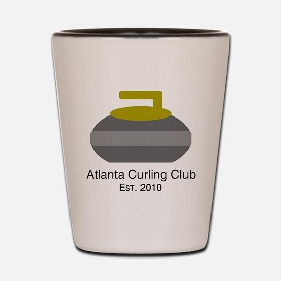 Cute Curling rock Shot Glass