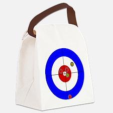Cute Curling rocks Canvas Lunch Bag