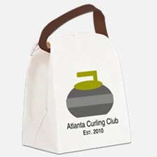 Cute Curling stone Canvas Lunch Bag