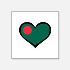 Bangladesh Love Rectangle Sticker