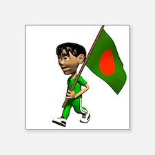 Bangladesh Boy Rectangle Sticker