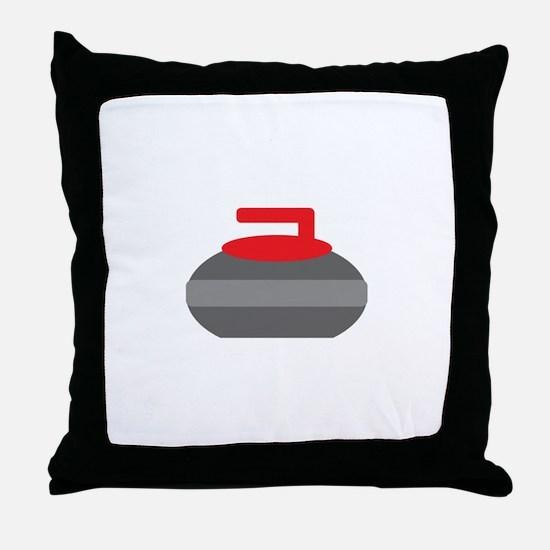 Red Stone Throw Pillow