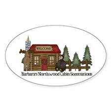 Barbaras Northwoods Oval Decal