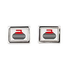 Red Stone Rectangular Cufflinks