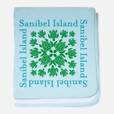 Sanibel Sea Turtle - baby blanket