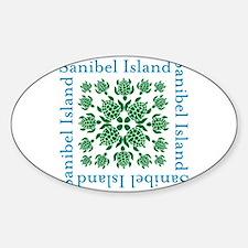 Sanibel Sea Turtle - Sticker (Oval)
