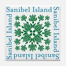 Sanibel Sea Turtle - Tile Coaster