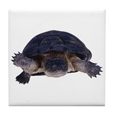 A swimming turtle Tile Coaster