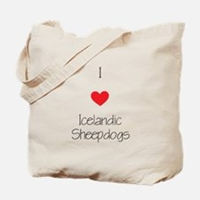 I love Icelandic Sheepdogs Tote Bag