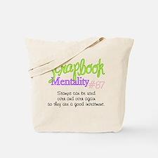 Scrapbook Mentality #87 Tote Bag