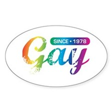 Gay Since 1978 Oval Decal
