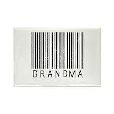 Grandma Barcode Rectangle Magnet