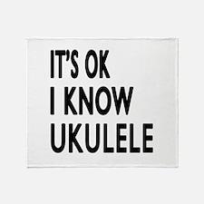 It Is Ok I Know Ukulele Throw Blanket