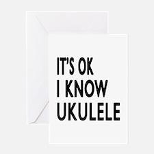 It Is Ok I Know Ukulele Greeting Card