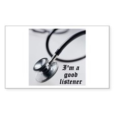 I'm a good listener Rectangle Decal
