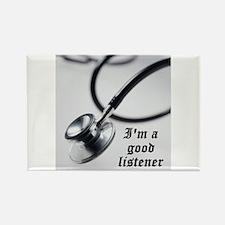 I'm a good listener Rectangle Magnet