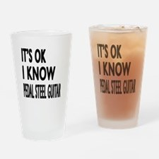 It Is Ok I Know Pedal Steel Guitar Drinking Glass
