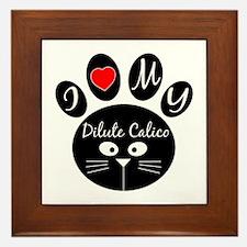 I love my Dilute Calico Framed Tile