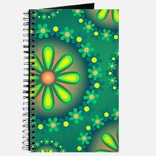 Green Floral Abstract Journal