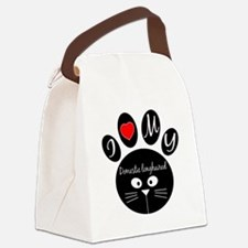 I love my Domestic longhaired Canvas Lunch Bag