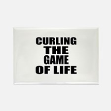 Curling The Game Of Life Rectangle Magnet
