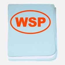 WSP Orange Euro Oval baby blanket